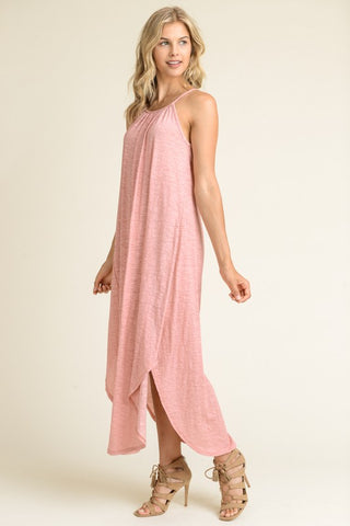Casual Summer Afternoon Maxi Dress - Mauve