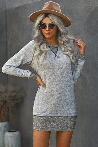 Tunic Length Sweatshirt - Grey