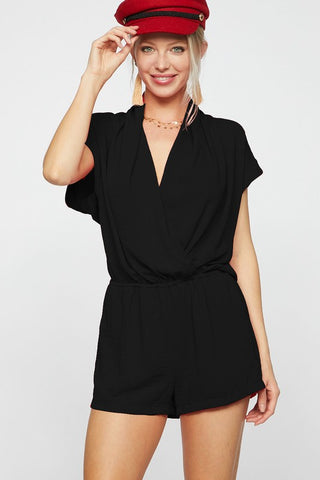 Summer Nights Dolman Sleeve Romper - Black
