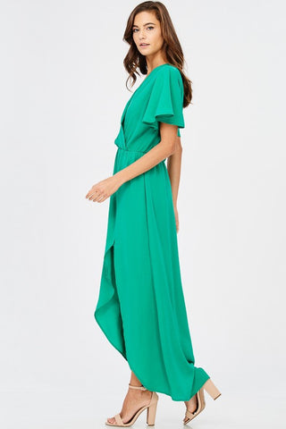 Elegant Maxi Dress - Kelly Green