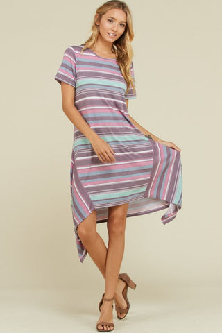 Asymmetrical Shift Dress - Lavender