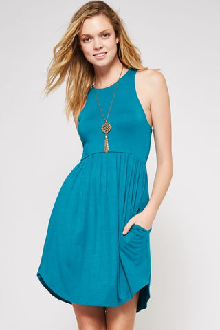 Simple Summer Dress - Turquoise