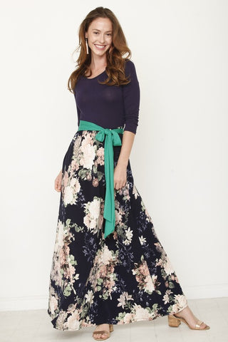 Spring is Calling Maxi Dress - Navy