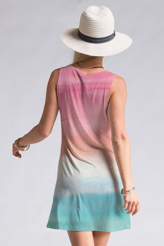 Shades of Sherbert Dress - Pink and Blue