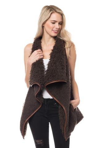 Sherpa Vest - Brown