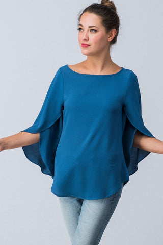 Fall Flare Top - Blue