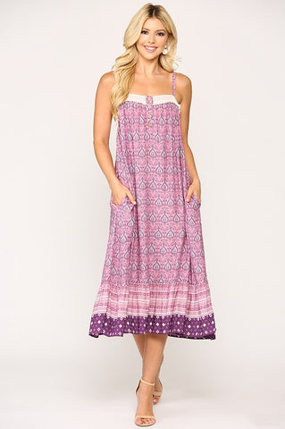 Casual Spring Sundress - Lavender
