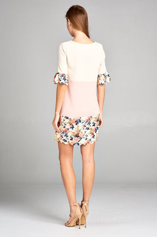 Soft Summer Floral Shift Dress
