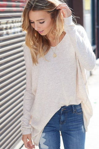 Luxe V-Neck Sweater - Beige