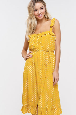 Polka Dot Sundress - Mustard