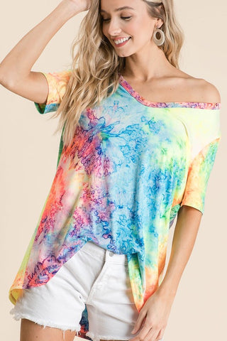 Tie Dye V-Neck Top