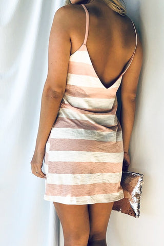 Key Largo Weekend Striped Dress - Peach