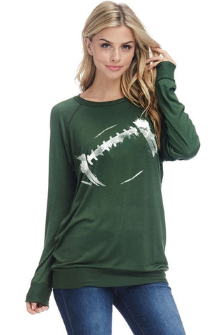 Lightweight Football Sweatshirt - Green