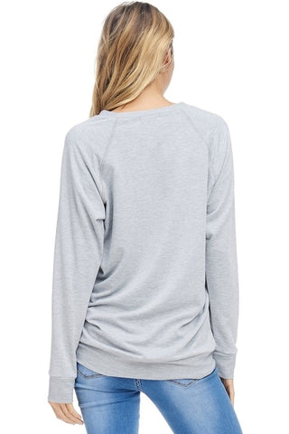 Lightweight Football Sweatshirt - Heather Gray