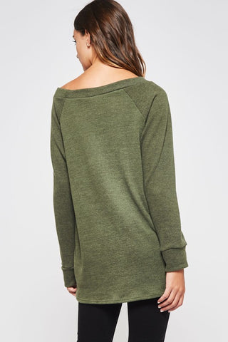 Fall Tie Tunic -  Olive