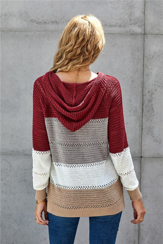 Sweater Hoodie - Red Mix