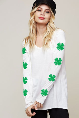 Shamrock Top - White