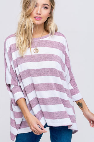 d785d2c959c4e4 Striped Sweater - Pink - Ships Friday