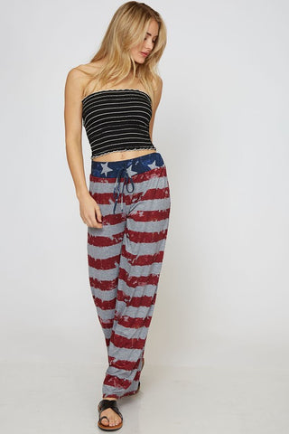 American Flag Lounge Pants - Red Stripes