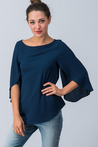 Fall Flare Top - Navy