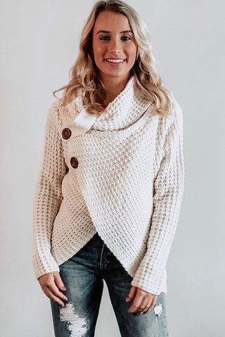 Cool Night Criss Cross Sweater -  Ivory