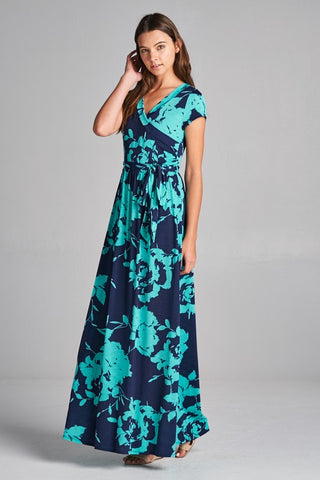 Floral Work of Art Maxi Dress - Mint - Ships Tuesday, March 26th