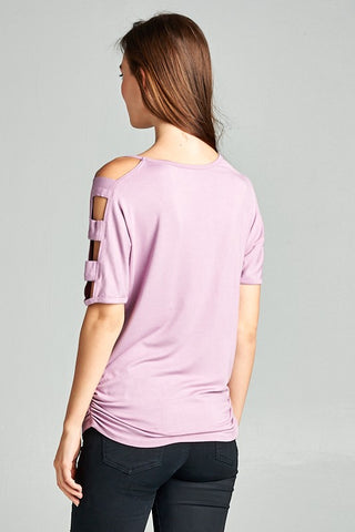 Entertaining Evening Cut Out Top - Lily Lavender