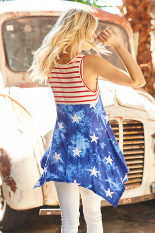 Stars and Stripes Flowy Top