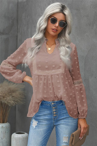Boho Top - Taupe - Ships Monday, January 25th