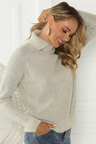 Collared Sweater - Gray