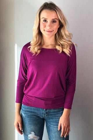 Dolman Sleeve Top - Purple