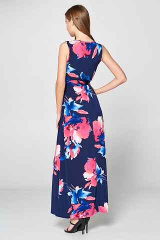 A Night in Maui Maxi Dress - Navy