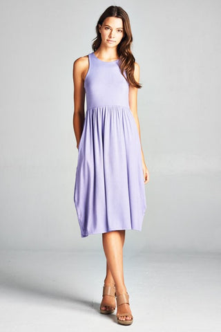 Spring Sunshine Racerback Midi Dress - Lavender