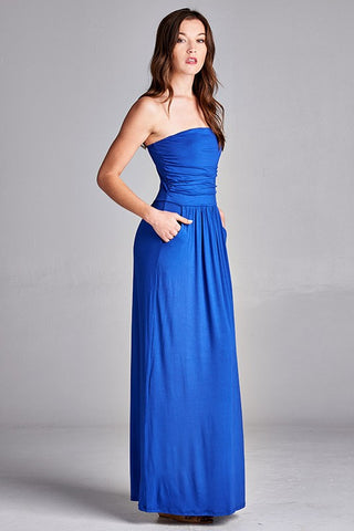 Simple and Stylish Maxi Dress - Royal