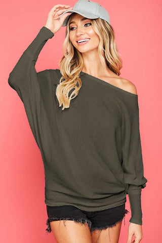 Dolman Sleeve Top - Olive