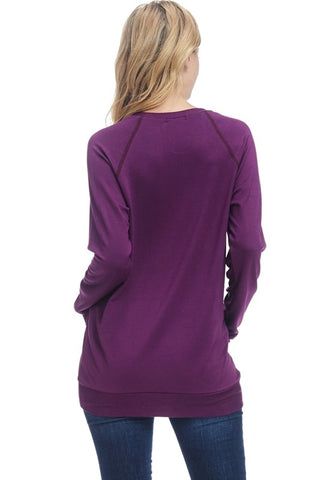 Lightweight Football Sweatshirt - Purple