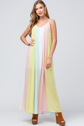 Colorful World Maxi Dress - Pastel