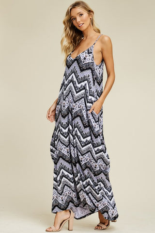Boho Vibes Maxi Dress - Black