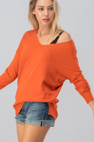Soft Touch Sweater - Rust