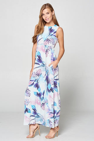 Soft Summer Blue Maxi Dress