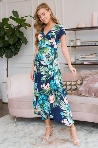 Palm High Low Maxi Dress