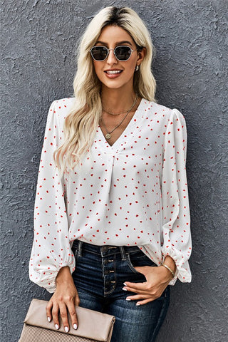 Sweetheart Blouse - White