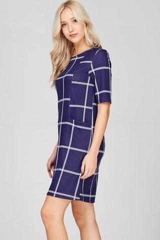 Work To Play Shift Dress - Navy
