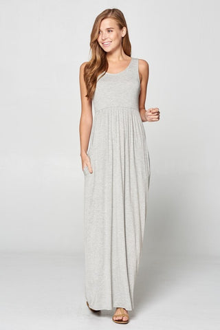 Racerback Maxi Dress  - Gray