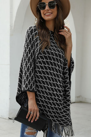 City Chic Poncho - Black