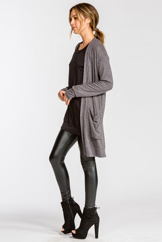 Cozy Fall Cardigan - Charcoal