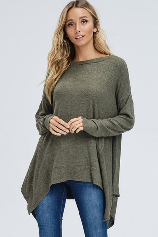 Flowy Fall Top - Olive