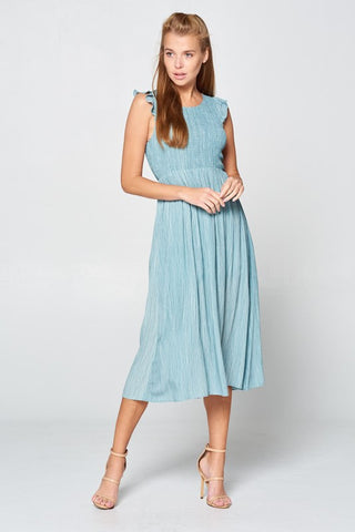 Sunday Picnic Midi Dress - Sage