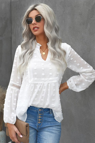 Boho Top - White - Ships Wednesday March 3rd