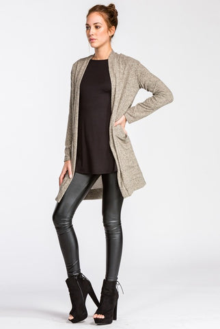 Cozy Fall Cardigan - Taupe